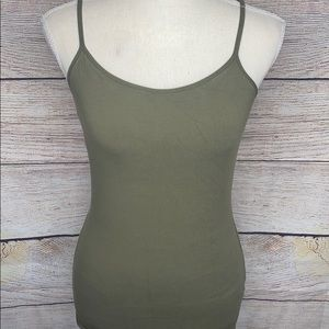 Express Best Loved Cami Olive Green Built In Bra